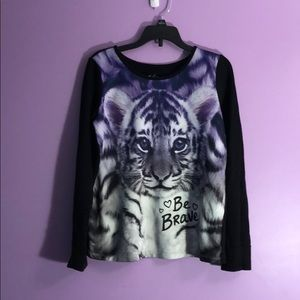 Justice sweatshirt size 12 with tiger